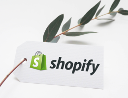 shopify written on a branch tag