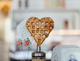 waffle shaped like a heart